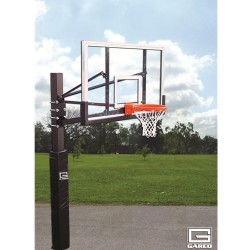 "Gared Endurance Playground System, 6"" Square Post, 6' Extension, BB60G38 Glass Backboard, 8800 Goal (GP106G60)"