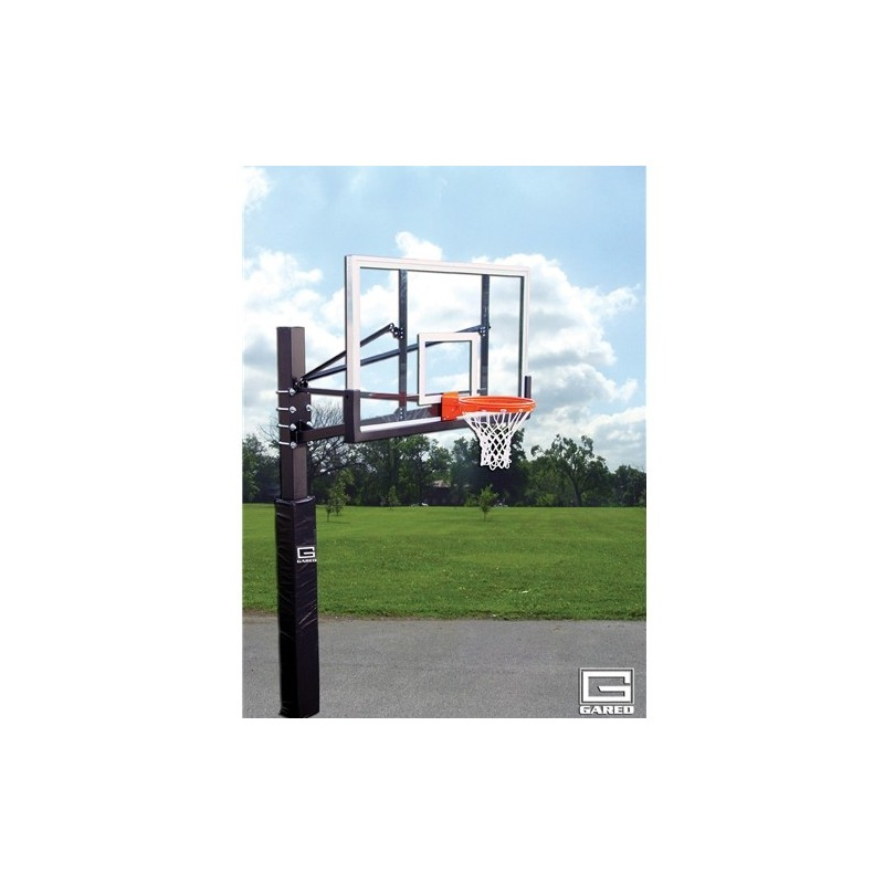 "Gared Endurance Playground System, 6"" Square Post, 6' Extension, BB72P50 Polycarbonate Backboard, 8800 Goal (GP106PC72)"