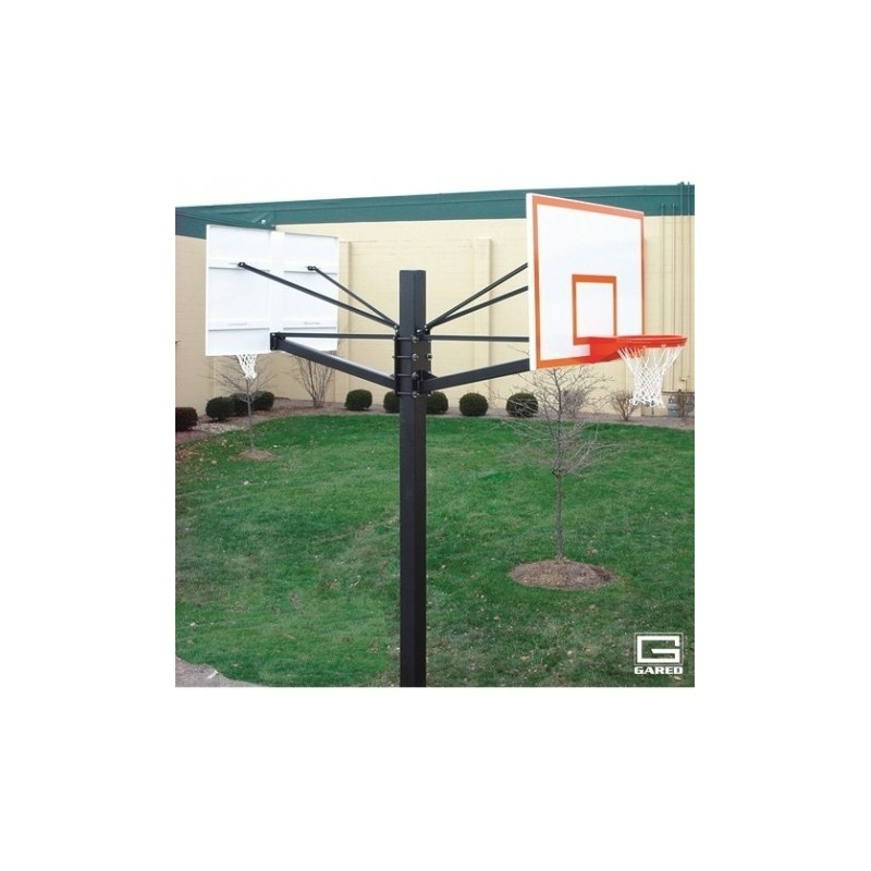 """Gared Endurance Double Board Playground System, 6"""" Square Post, Two 5' Extensions, BB60G38 Glass Backboards(GP205G60)"""