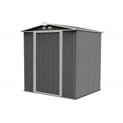 Arrow 6x5 Ezee Storage Shed Kit - Low Gable, 65 in Walls, Vents - Charcoal & Cream (EZ6565LVCCCR)