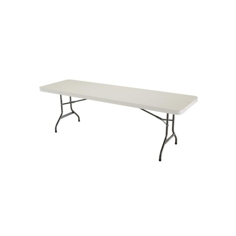 Lifetime 8 ft. Commercial Plastic Folding Banquet Table (Almond) 22984