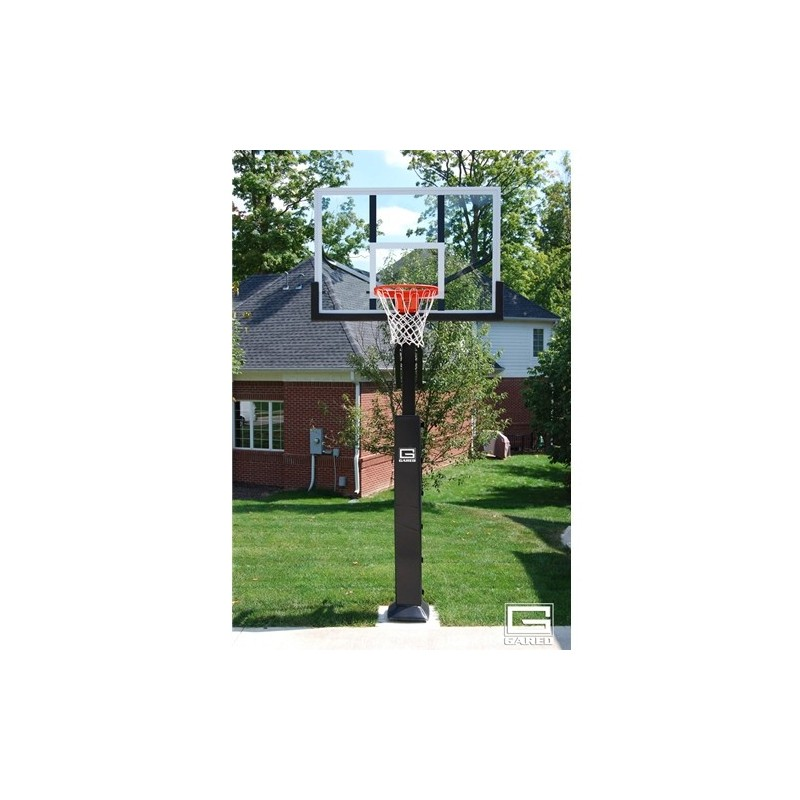 "Gared Collegiate Basketball System, 5"" Square Post, 42"" x 60"" Acrylic Backboard, 1000 Goal (GP8A60DM)"