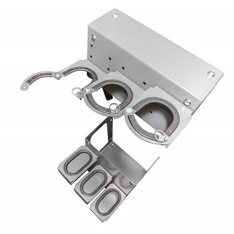 Swisher ESP Deluxe Adjustable Gun Rack Safety Shelter Kit - Gray (SRAC20338)
