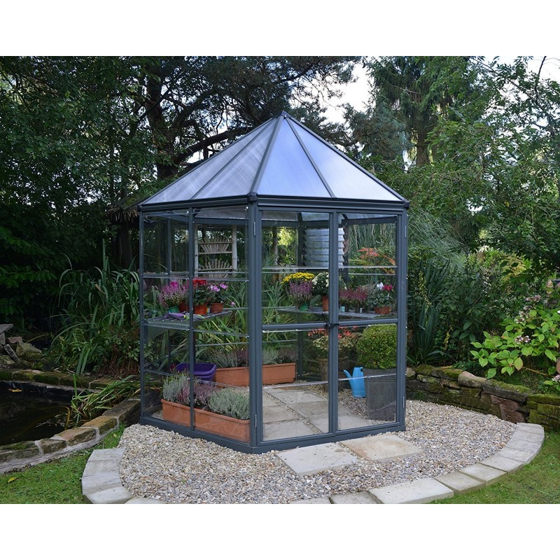 Palram 7x8 Oasis Hex Greenhouse Kit - Gray (HG6000)