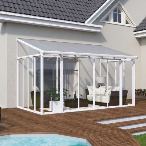 Palram 10x18 San Remo Patio Enclosure Kit - White  (HG9061)