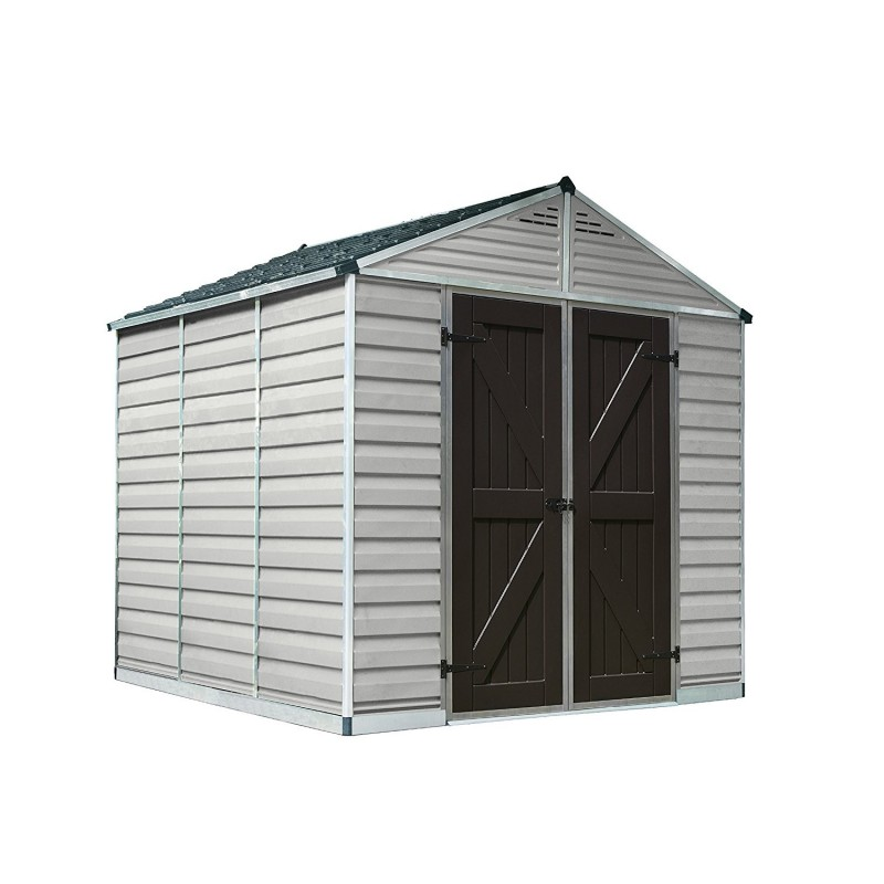 Palram 8x16 Skylight Storage Shed Kit - Tan (HG9816T)