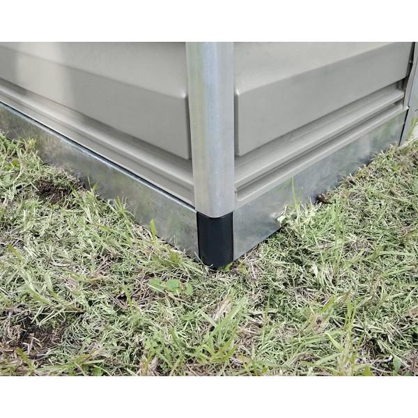 Palram 8x20 Skylight Storage Shed Kit Tan Hg9820t
