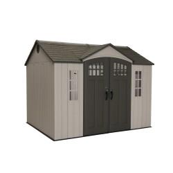 Lifetime 10x8 Plastic Shed w/ Skylight, Windows, Shelving & Floor (model 60151)