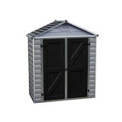 Palram 6x5 Skylight Storage Shed Kit - Gray (HG9605GY)