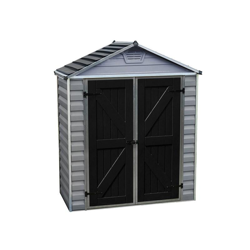 Palram 6x5 Skylight Storage Shed Kit - Gray (HG9605GY)