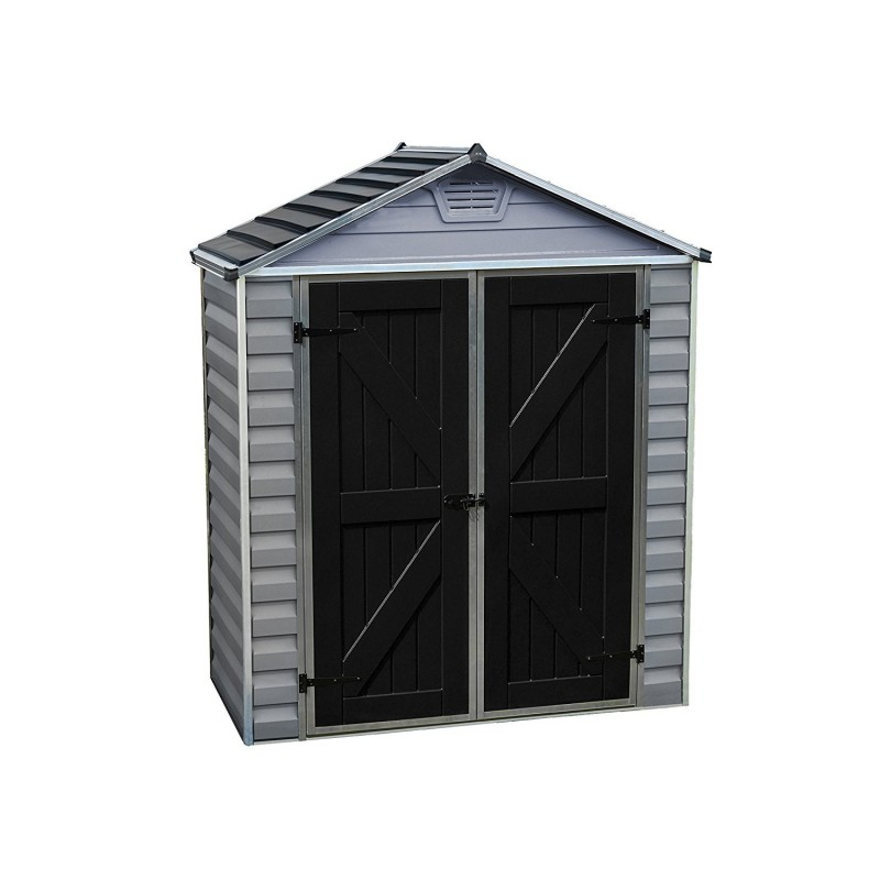 Palram 6x8 Skylight Storage Shed Kit - Gray (HG9608GY)