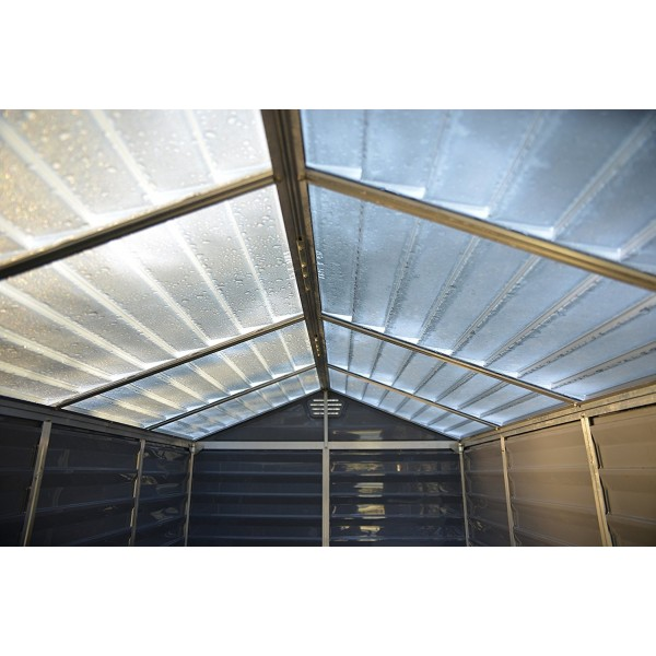 Palram 6x8 Skylight Storage Shed Kit Gray Hg9608gy