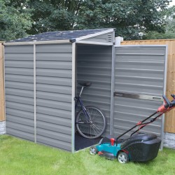 Palram 4x6 Lean-To Skylight Storage Shed Kit - Gray (HG9600T)