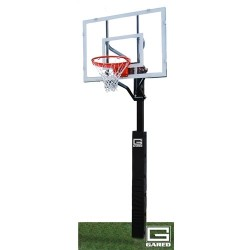 """Gared Super Shot Adjustable In-Ground Basketball System, 4"""" Square Post, 36"""" x 48"""" Acrylic Backboard, 726 Goal (GP5A48G)"""