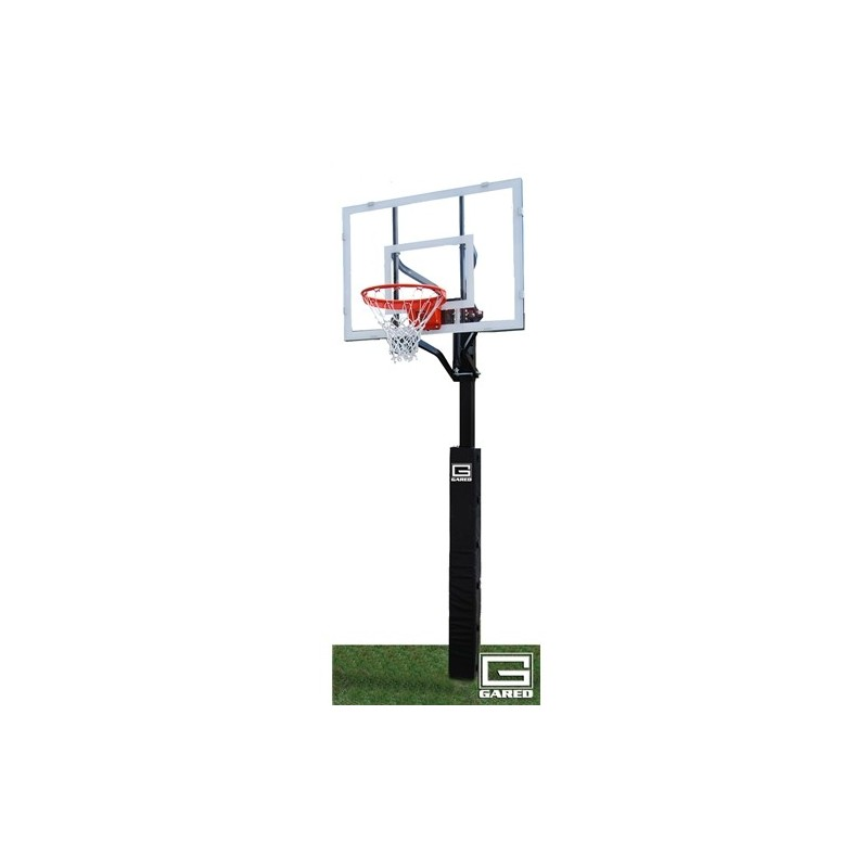 "Gared Super Shot Adjustable In-Ground Basketball System, 4"" Square Post, 36"" x 48"" Acrylic Backboard, 726 Goal (GP5A48G)"