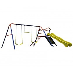 Lifetime Climb & Slide Playset Metal Swing Set - Primary (90558)
