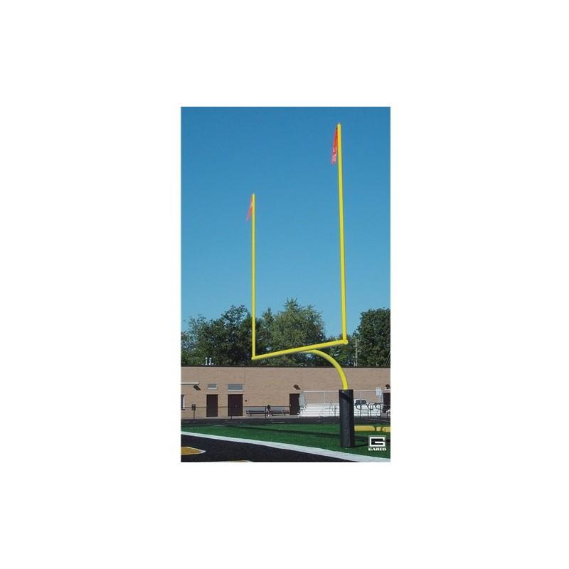 "Gared RedZone 4-1/2"" O.D., 23' 4"" Crossbar, High School Football Goalposts, Yellow (FGP401PY)"