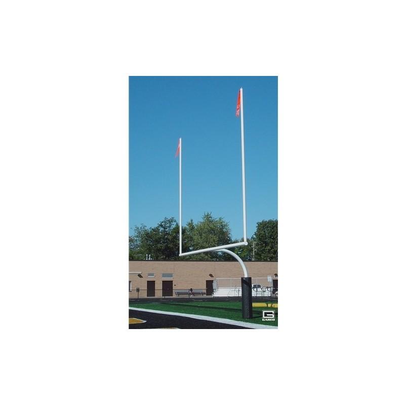 "Gared RedZone 5-9/16"" O.D., 23' 4"" Crossbar, High School Football Goalposts, White, Permanent/Sleeve-Mount (FGP601SW)"
