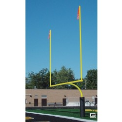 "Gared RedZone 5-9/16"" O.D., 23' 4"" Crossbar, High School Football Goalposts, Yellow, Plate-Mount (FGP601PY)"