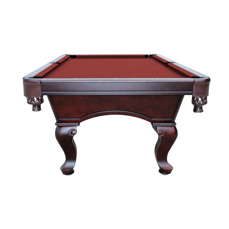 Monterey 8' Slate Pool Table With Burgundy Felt (NG2585BR)