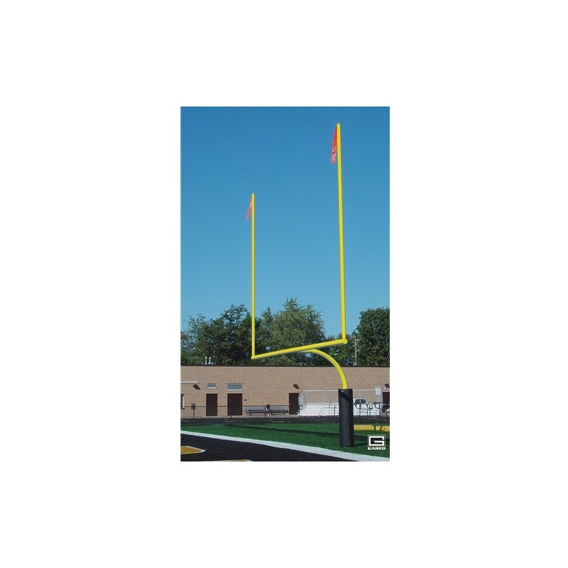 "Gared RedZone 4-1/2"" O.D., 18' 6"" Crossbar, College Football Goalposts, Yellow, Permanent/Sleeve-Mount (FGP402SY)"