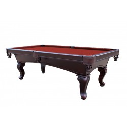 Monterey 8' Slate Pool Table With Red Felt (NG2585RD)