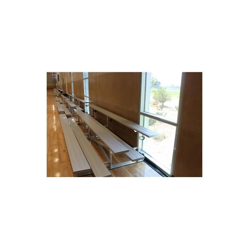 "Gared 2-Row Tip n' Roll Spectator™ Bleacher, 10"" Plank, 7 ft 6 in (TRB0208)"
