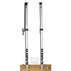Gared RallyLine Scholastic Aluminum Telescopic Center Upright with Winch - One Post (6108)