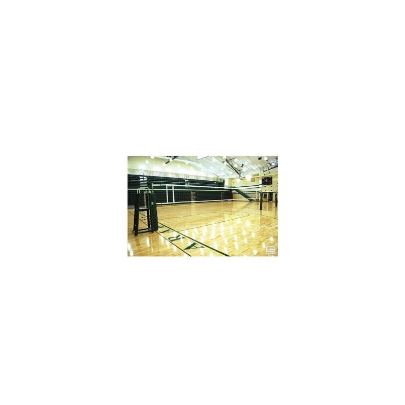 Gared OMNISteel Collegiate Steel Telescopic One-Court Volleyball System Less Sleeves & Covers (5105)