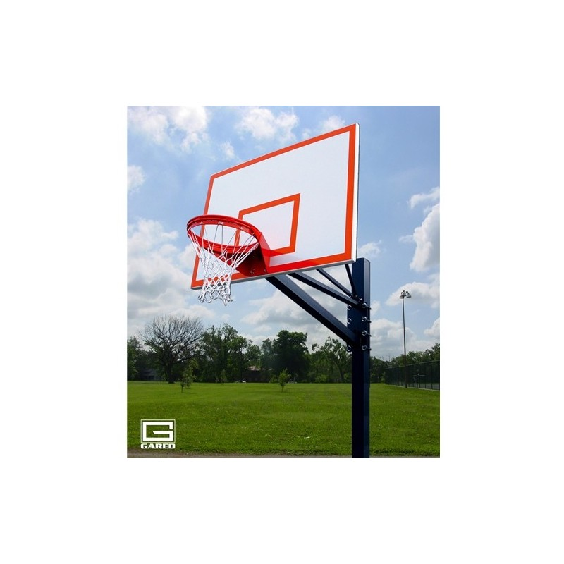 "Gared Endurance Playground System, 6"" Square Post, 6' Extension, 1272B Steel Backboard, 8550 Goal (GP106S72)"