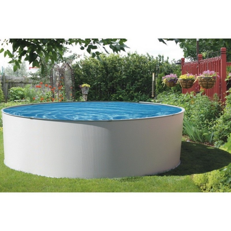 Blue wave presto 18 round 52 deep metal wall above - Largest above ground swimming pool ...
