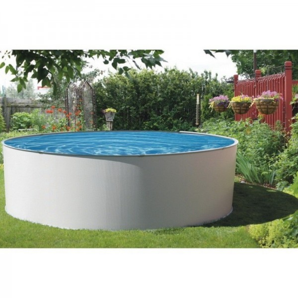 Blue wave presto 18 round 52 deep metal wall above for Cheap above ground pool packages