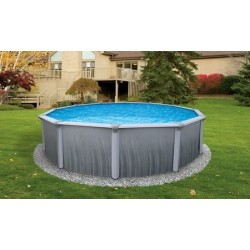 "Blue Wave Martinique 27' Round 52"" Steel Pool Kit (NB2615)"