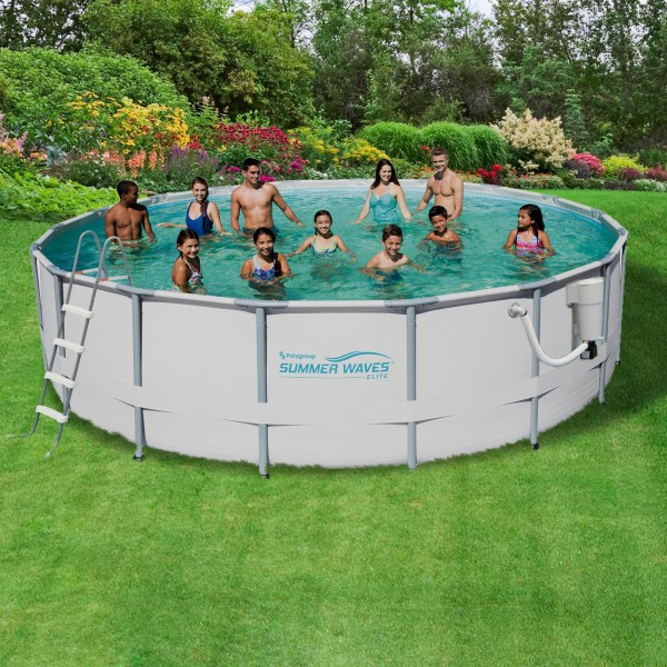 Blue wave sw elite 18x52 pool nb2041m for Cheap above ground pool packages