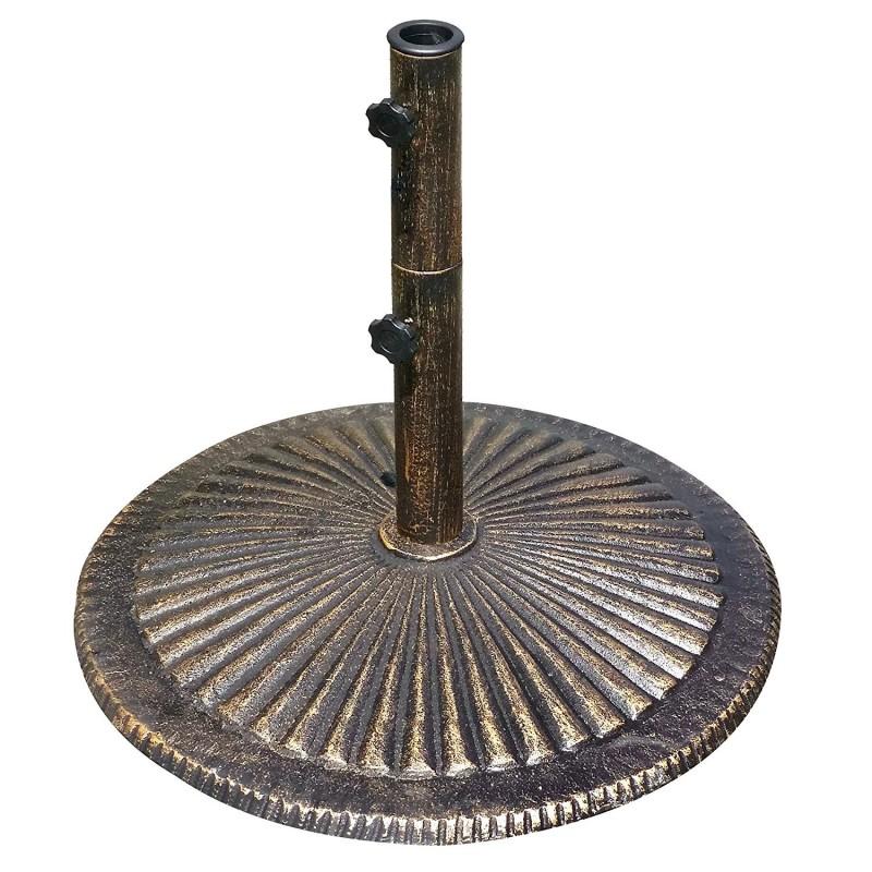 Blue Wave 80-lb Classic Cast Iron Umbrella Base - Bronze (NU5408)