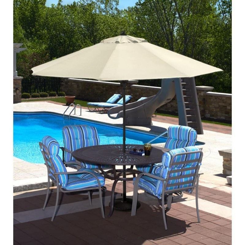 Blue Wave Cabo Auto-Open 9-ft Octagonal Market Umbrella - Champagne Olefin (NU5419CH)