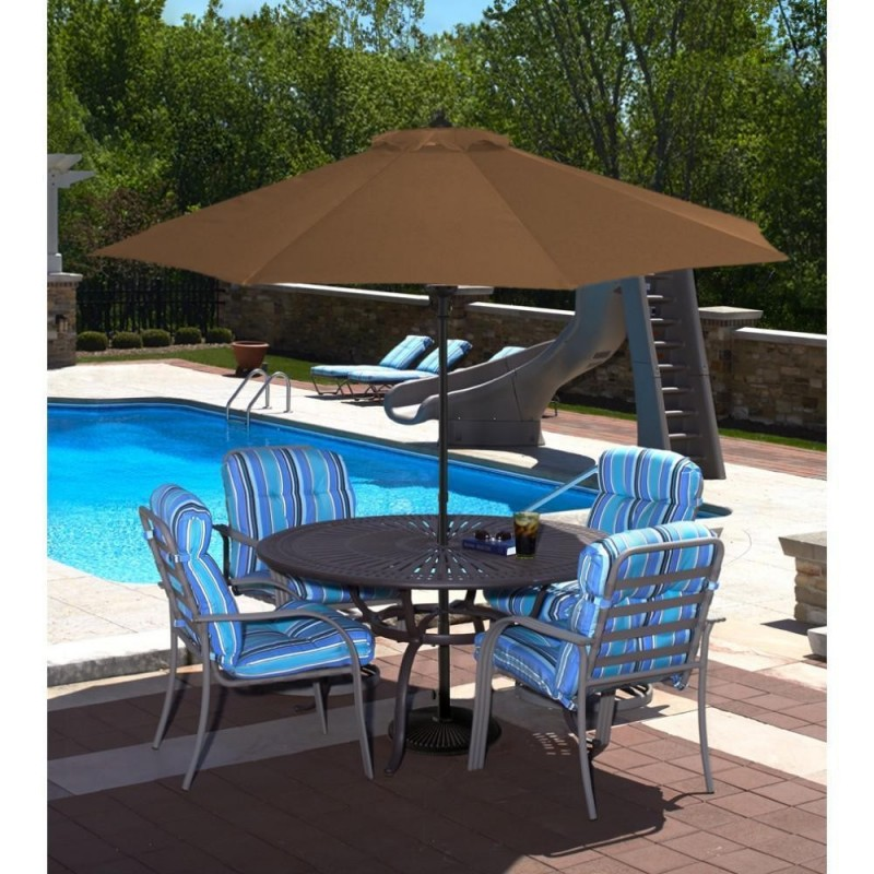 Blue Wave Cabo Auto-Open 9-ft Octagonal Market Umbrella - Stone  (NU5419ST