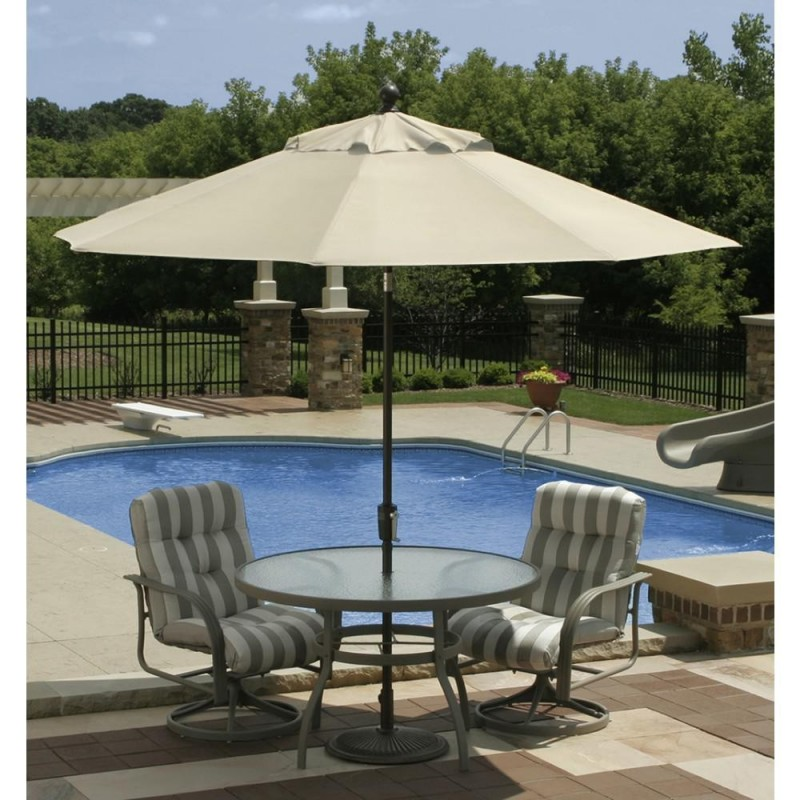 Blue Wave Mirage 9-ft Octagonal Market Umbrella w/ Auto-Tilt in Beige Sunbrella Acrylic  (NU5422B