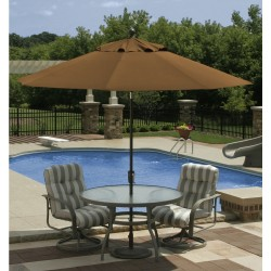 Blue Wave Mirage 9-ft Octagonal Market Umbrella w/ Auto-Tilt - Stone Olefin  (NU5422ST)