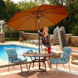 Blue Wave Mirage 9-ft Octagonal Market Umbrella w/ Auto-Tilt - Terra Cotta Sunbrella Acrylic (NU5422TS)