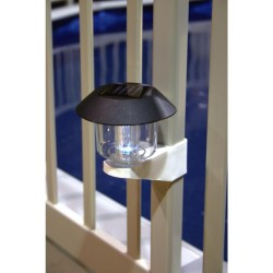 Blue Wave Solar Light Kit For Above Ground Pool Fence - 4 Pack - Taupe (NA424T)