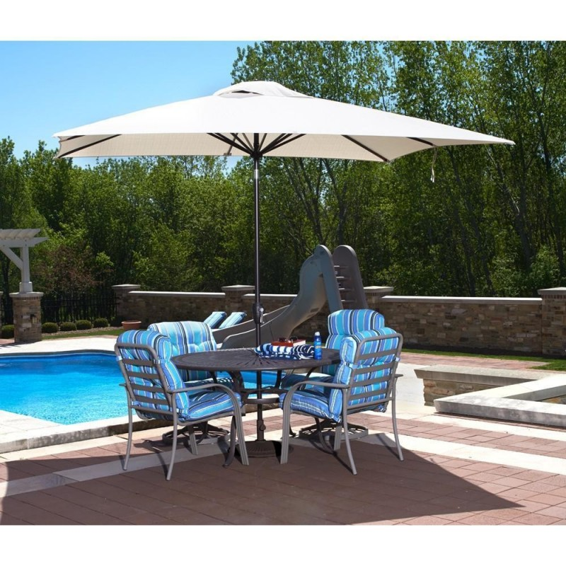 BlueWave Caspian 8x10 Rectangular Market Umbrella - Beige Sunbrella Acrylic (NU5448B)