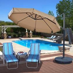 Blue Wave Freeport 11ft Octagon Cantilever w/ Valance - Beige Sunbrella Acrylic (NU6545)
