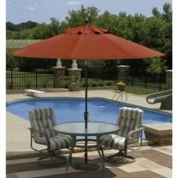 Blue Wave Caspian 8ft x 10ft Rectangular Market Umbrella - Terra Cotta Sunbrella Acrylic (NU5448TS)