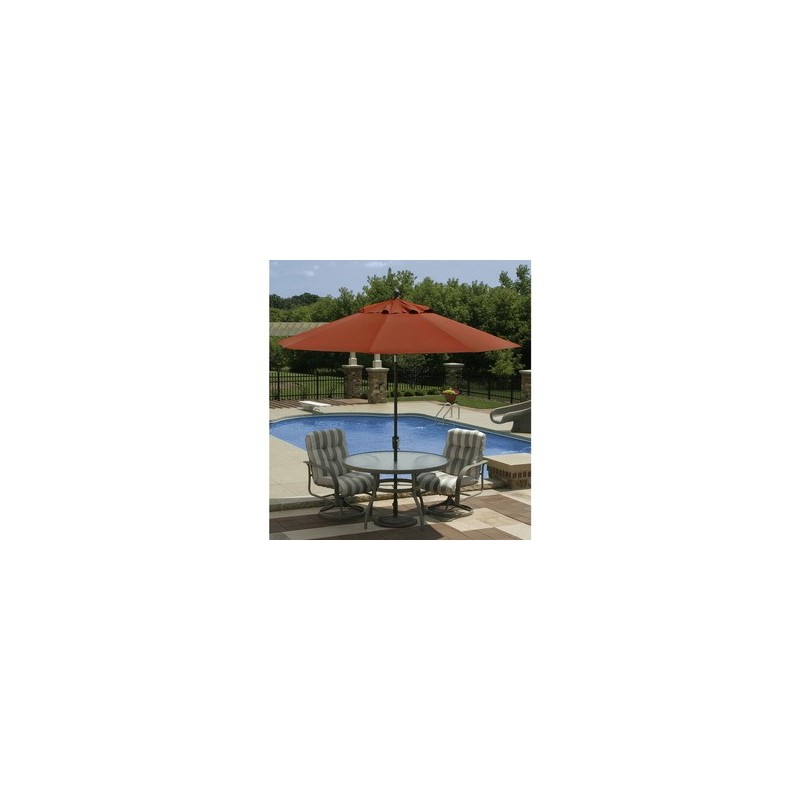 Blue Wave Caspian 8ft x 10ft Rectangular Market Umbrella - Terra Cotta Sunbrella Acrylic (NU5448TS)