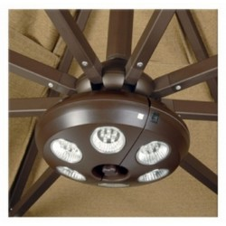 Blue Wave Rechargeable 6 Light Bronze Umbrella Light (NU5515)