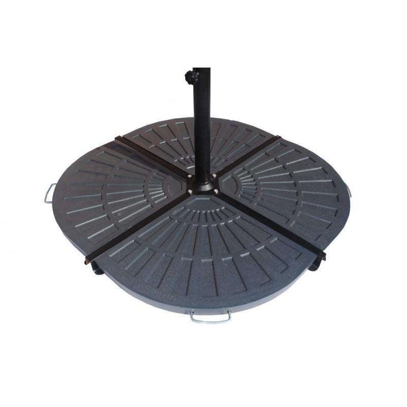 Blue Wave Antique Black Resin Weights For Cross-Base Umbrella (NU6390)