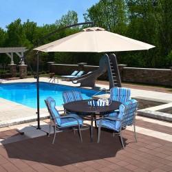 Blue Wave Santiago 10-ft Octagonal Cantilever Umbrella - Beige Sunbrella Acrylic (NU6400B)