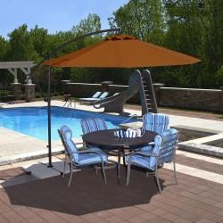 Blue Wave Santiago 10ft Octagonal Cantilever Umbrella - Terra Cotta Sunbrella Acrylic (NU6400TS)