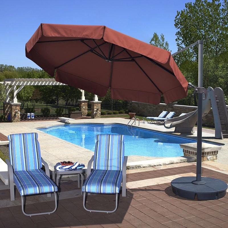 Blue Wave Freeport 11ft Octagon Cantilever w/ Valance - Terra Cotta Sunbrella Acrylic (NU6550)